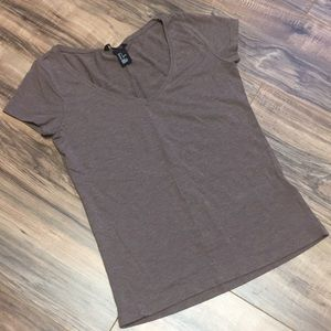 H&M Brown Short Sleeve T-shirt